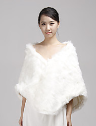 Fur Wraps / Wedding  Wraps Shawls Sleeveless Faux Fur White Wedding / Party/Evening