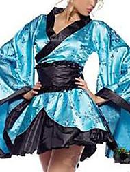 Costume Azul Bag-luva do quimono revestimento das mulheres