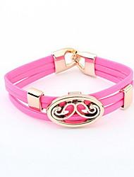 Mooie lichtmetalen Met Lederen Dames armband (meer kleuren)