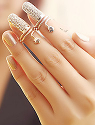 Women's Fashion Flower Finger Nail Ring(Random Color)