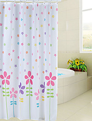 Fashional Floral Style Polyester Shower Curtain