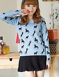 Women's Horse Print Sweater