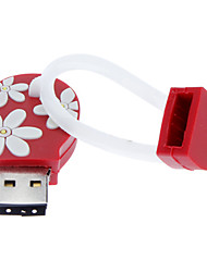 8GB de borracha macia flip-flops USB Flash Drive