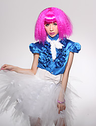 Pretty Fuschia Corn Roll Party Wig