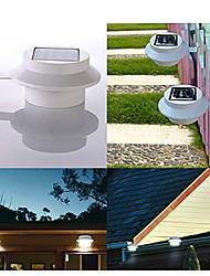 3 Led Solar Powered Fence Gutter Light Outdoor Garden Yard Wall Pathway Lamp(Cis-57155)
