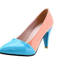 Bom gosto couro envernizado Muti_color Baixo Salto Bombas Casual Shoes (mais cores)