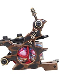 Brass Carved Lettering Top Grade Quality Tattoo Machine Gun Liner and Shader