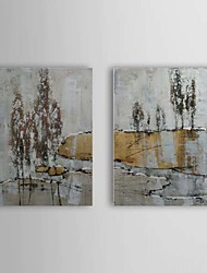 Hand Painted Oil Painting Abstract Tree with Stretched Frame Set of 2 1309-AB0866