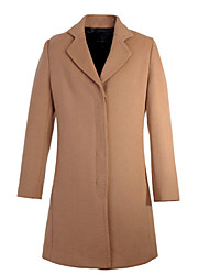 Women's Coats & Jackets , Tweed Casual KARORINLAN