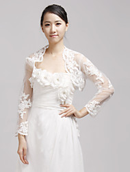 Wedding  Wraps Shrugs Half-Sleeve Lace Ivory Wedding / Party/Evening Open Front