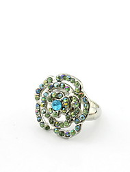 Graceful Alloy With Rhinestone Adjustable Wonmen's Ring