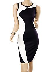MIUSOL Moda Splice Bodycon Vestido