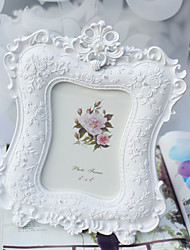 Embossment Floral Print Photo Frame