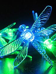 Jardim luz solar, 30 Colorido libélula luzes LED (cis-57178)