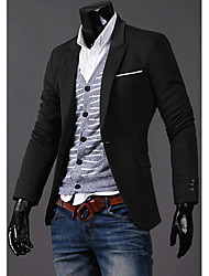 RR BUY Men Black Casual Fitted  Suit