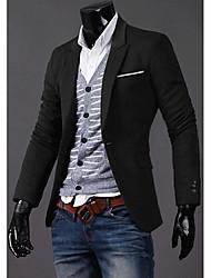 Men's Suits , Cotton Blend Long Sleeve Casual/Work RR BUY