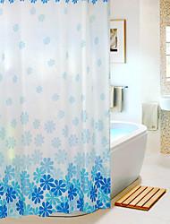 Fashional Diseño floral poliéster cortina de ducha