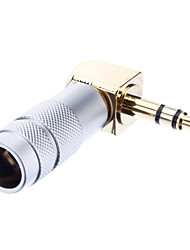 3.5mm Stereo Welding Adapter Masculino OD6.8mm banhados a ouro para Musical