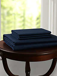 Simple&Opulence® Flat sheet, 300 TC 100% Cotton Solid Dark Blue