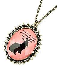 retro gem Pullover Halskette Abschnitt (gelegentliche Farbe)