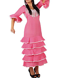 Costume de danse flamenco rose femmes de robe
