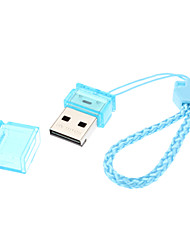Bleu Ultra Mini 2.0 MicroSD / TF Card Reader Portable USB avec sangle