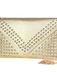 Elegant Leatherette with Rivet Special Occasion Evening Handbag/Clutches(More Colors)
