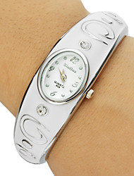 Women's Oval Dial Alloy Band Bracelet Watch (Assorted Colors) Cool Watches Unique Watches