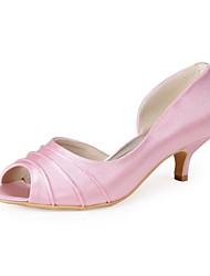 Women's Wedding Shoes Peep Toe Heels Casual Pink