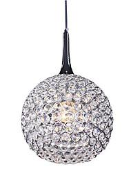 característica colgante de 1 luz artística en el diseño de cristal (220v-240v)