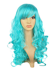 Capless Top Grade Synthetic Blue Straight Long Hair Wig