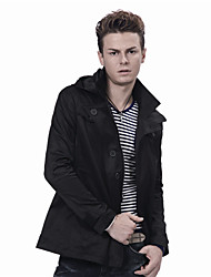 Men'S Hoodie Cotton Refined Trench Coat
