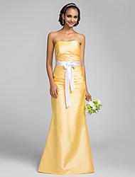Vestido de Dama de Honor - Narciso Corte Sirena Strapless - Hasta el Suelo Tafetán Tallas grandes