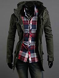 Men's Coats & Jackets , Cotton Blend Long Sleeve Casual RR BUY