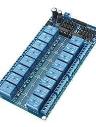 16-канальный релейный модуль 5В совета Вт / Мощность LM2576 / Оптрон Protection - Синий