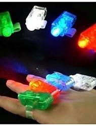 laser de decoração de casamento vigas cor levou luz brilhante festa anel de dedo divertimento gadget conjunto de 40