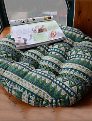 Southeast Asia Style Country Design Round Linen Green Chair Pad