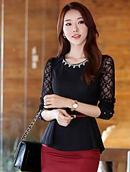 Weimeijia Long Sleeve Lace Shirt