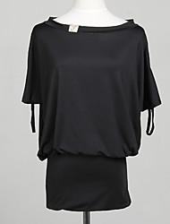 Sexy Asym spalla Pieghe mini vestito delle donne