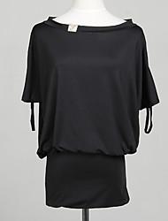 Sexy Asym ombro plissados mini vestido das mulheres