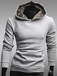 Männer Kapuzenpullover Fleece gefüttert beiläufigen Sweatshirt