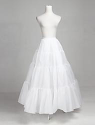 Poliéster e Tulle A-Line Full-Length Wedding Deslizamento Style / Petticoat
