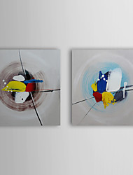 Hand Painted Oil Painting Abstract Nest with Stretched Frame Set of 2 1309-AB1015