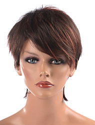 Capless High Quality Synthetic Dark Brown Short Straight Hair Wigs