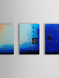 Hand Painted Oil Painting Abstract with Stretched Frame Set of 3 1309-AB0997