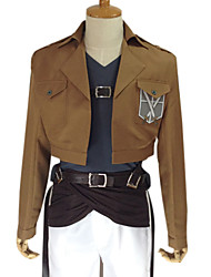 Inspired by Attack on Titan Ymir Anime Cosplay Costumes Cosplay Suits Solid Long SleeveCoat Pants Waist Accessory Belt Strap Badge