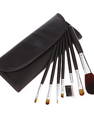 7 Makeup Brushes Brush Set Eyeshadow Blush Lip Gloss Pen Case