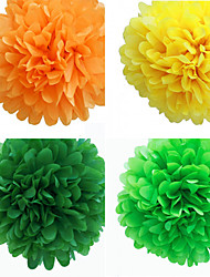 Wedding Décor 5 inch Paper Flower - Set of 4 (More Colors)