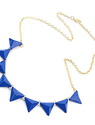 Mode triangle orange collier N371