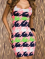 Women's Pink Paper Print Mini Dress